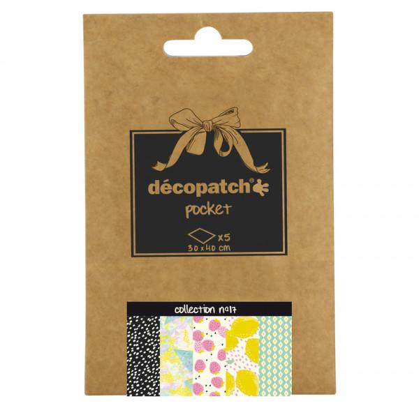 Decopatch Pocket Papier, 5er Sortiment, Collection No 17