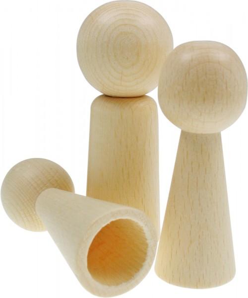 Figuren-Kegel Mann, aus Holz, 77 x 25 mm