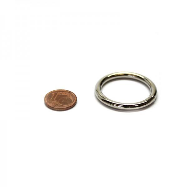 Rundring 25 x 3,5mm Stahl, Silbern vernickelt