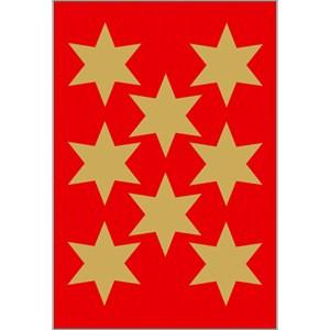Sticker Sterne, Ø 33 mm, gold