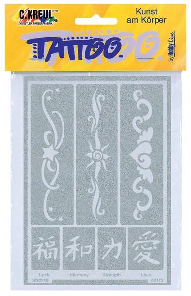 Hobby Line Tattoo-Schablone Bänder 2