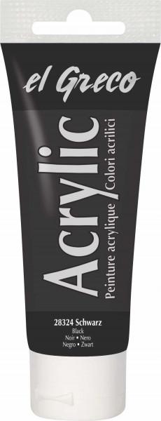 Acrylfarbe el Greco Acrylic, 75 ml - Schwarz