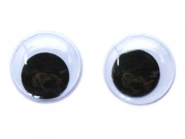 Wackelaugen, selbstklebend, rund, Ø 18mm, 14 Stück