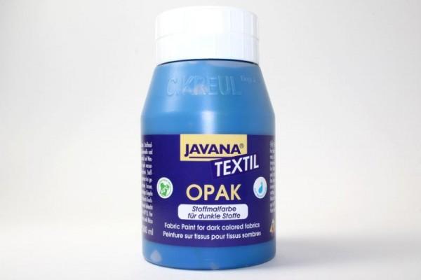 JAVANA TEXTIL Opak, für dunkle Stoffe, 500 ml, Blau