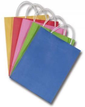 Papiertüten, Papiertragegriff, 20 Stück, 18x8x21 cm, farbig