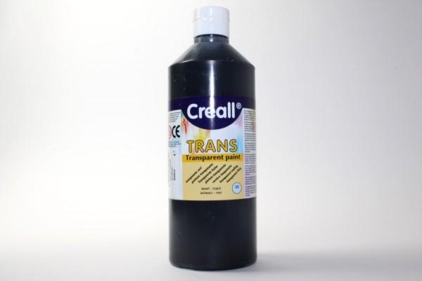 Creall-trans, transparente Farbe, 500 ml, schwarz