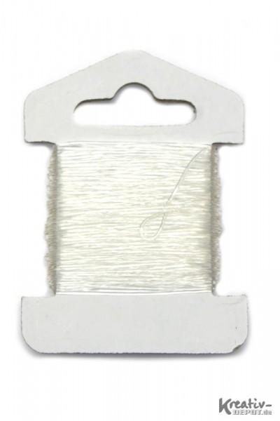 Elastisches Gummi, Gumminylon, 0,6 mm, 10 m, transparent