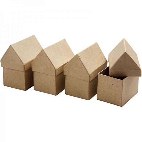 Schachtel-Set Haus, aus Pappmaché, 4-teilig