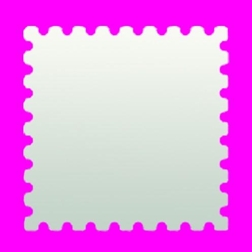 Stanzer Briefmarke, ca. 5,4 x 5,4 cm