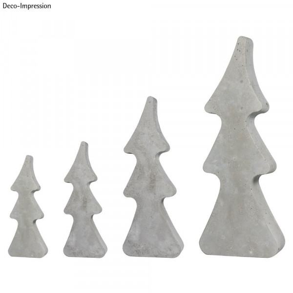 Gießform Tannenbäume, 4 Bäume, 8-16cm