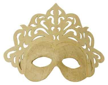 dècopatch Maske Karneval, aus Pappmaché, 8x23x18 cm