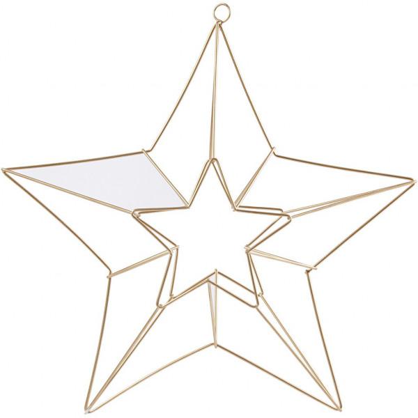 Stern-Anhänger aus Metall, Größe 34x30 cm