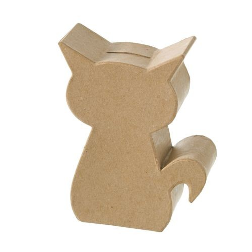 Spardose Kitty, aus Pappmachè - 15 x 11,5 x 4,5cm