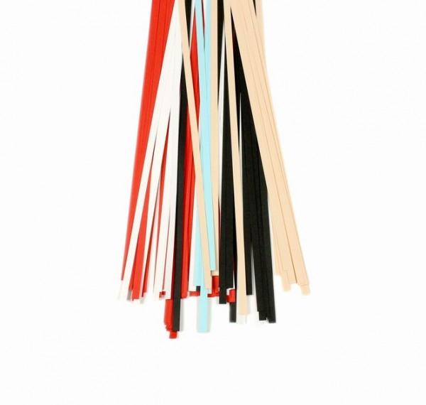 Quilling Papierstreifen-Mix, 5mm x 450mm, weiß/schwarz/aqua/rot/