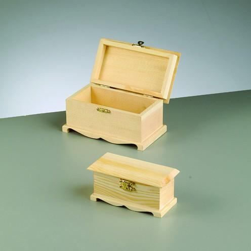 Holztruhen-Set, 2-teilig, 16 x 9 x 8,5 cm
