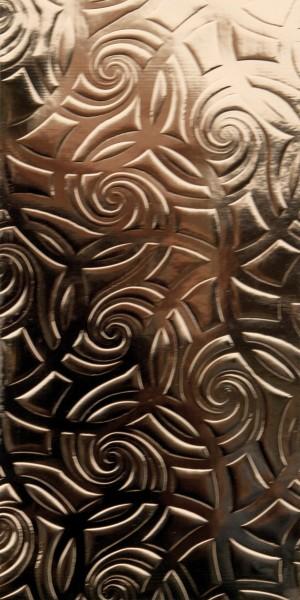 Wachsplatte, 200x100x0,5mm, gold Linien