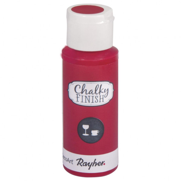 Chalky-Finish Kreidefarbe für Glas 59 ml - klassikrot