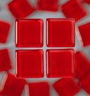 Efco Mosaik Glasstein soft, 10 x 10 mm, rot