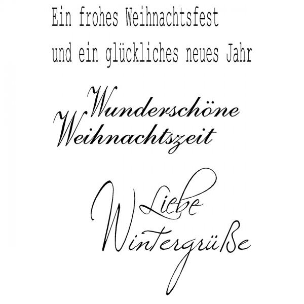 Clear Stamps - Liebe Wintergrüße