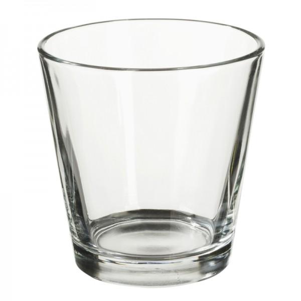 Teelichtglas, klar, 6,6 cm hoch