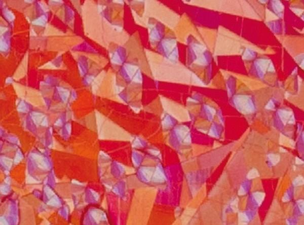 Verzierwachsplatten, flitter, 200x100x0,5mm, 10 Stück, rot