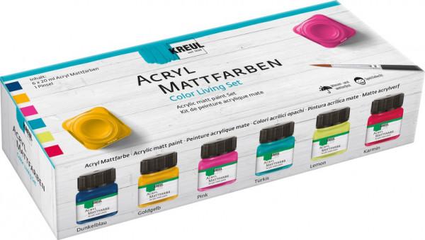 "KREUL Acryl Mattfarben Set ""Color Living"" 6 x 20 ml"