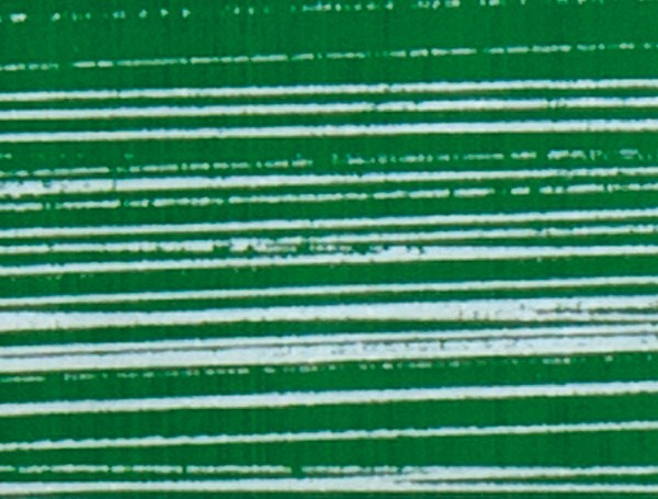 Verzierwachsplatte, silber gestreift, 200x100x0,5mm, grün