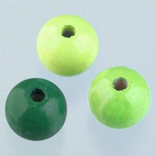 Holzperlen Mix 8mm - grünmix