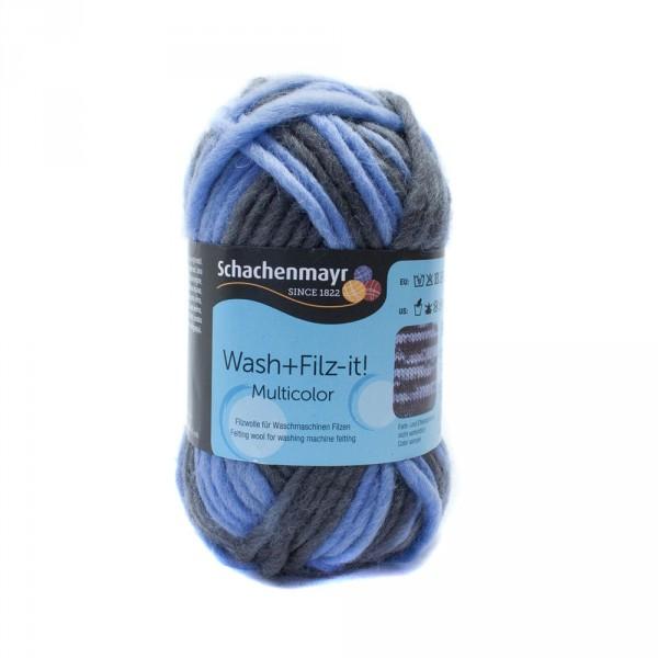 Schachenmayr - Wash+Filz-it! - bleu-graphit