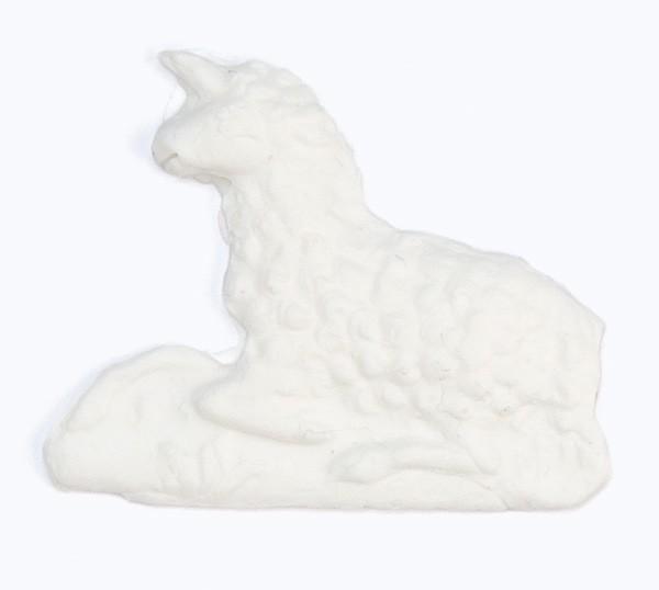 Wachsmotiv Lamm, 5 x 3,9 cm, weiß