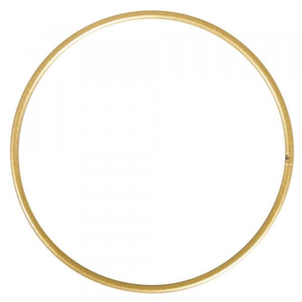 Drahtring, gold matt, 15 cm Ø