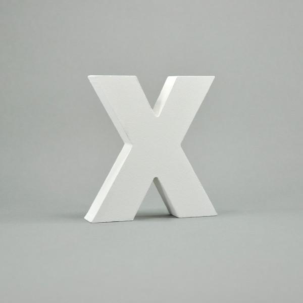 """MDF- Buchstaben """"X"""", weiß"""