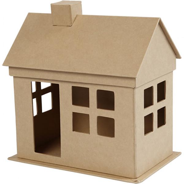 Haus mit abnehmbarem Dach, 23 x 22,5 x 14,5 cm