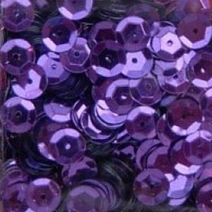Pailletten, rund, gewölbt, 6 mm, 1400 St, violett-metallic