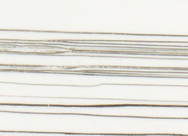 Verzierwachsplatte, gold gestreift, 200x100x0,5mm, weiß