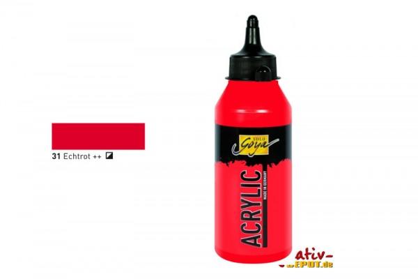 Solo Goya Acrylic, 250 ml, Echtrot