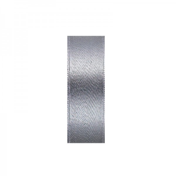 Satinband, doppelseitig, Länge 10 m, Breite 5 mm, grau/silber