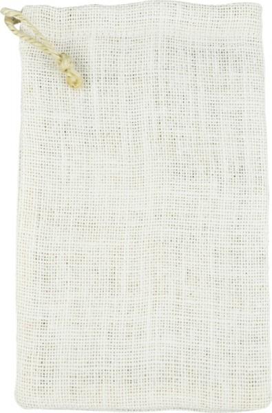 Jutebeutel/Jutesäckchen, 15x24 cm, weiß