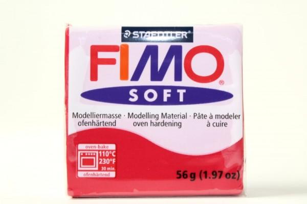 FIMO soft, Modelliermasse, 56 g, Kirschrot