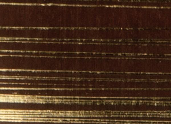 Verzierwachsplatten, gold gestreift, 10 St., braun