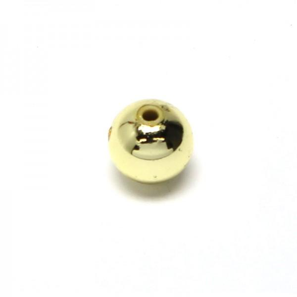 Wachsperlen 4 mm - gold, 80 Stk.