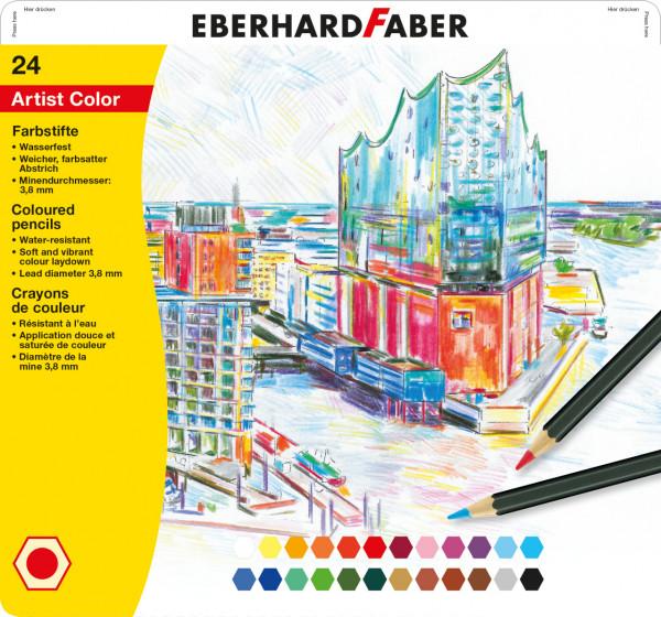 Eberhard Faber - 24 hexagonal Artist Color Farbstifte
