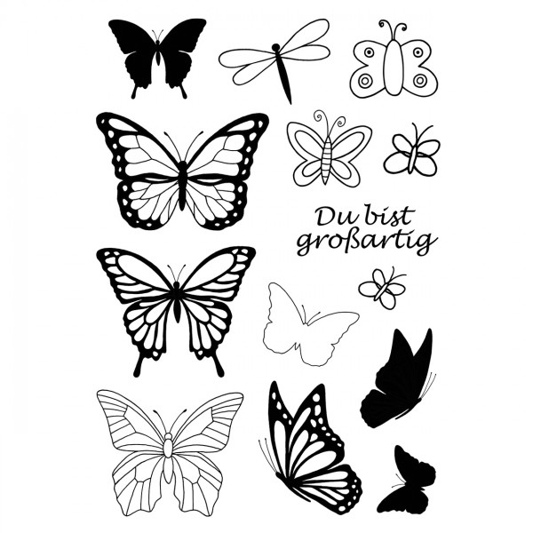 Clear Stamps - Schmetterlinge