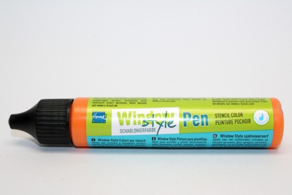 Window Style Schablonierfarbe Pen, 29 ml, Orange