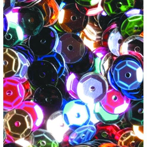 Pailletten, rund, gewölbt, 6 mm, 4000 St, fabig sort.