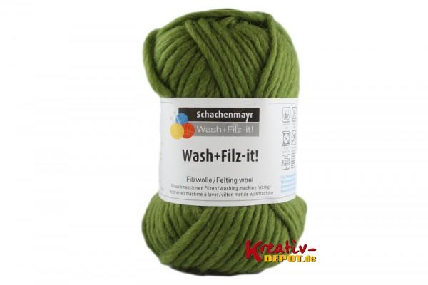 Schachenmayr Filzwolle - Wash+Filz-it! - olive