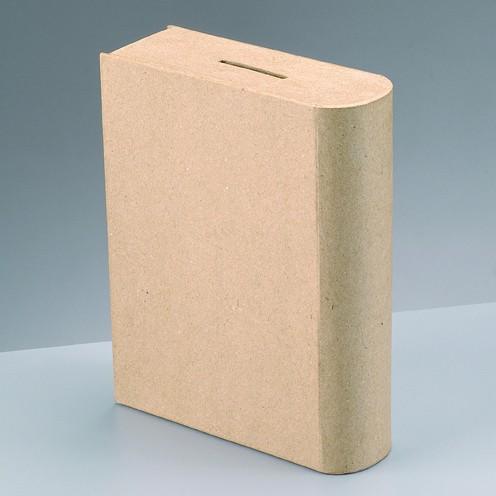 Spardose Sparbuch, aus Pappmachè, 18 x 14 x 5 cm