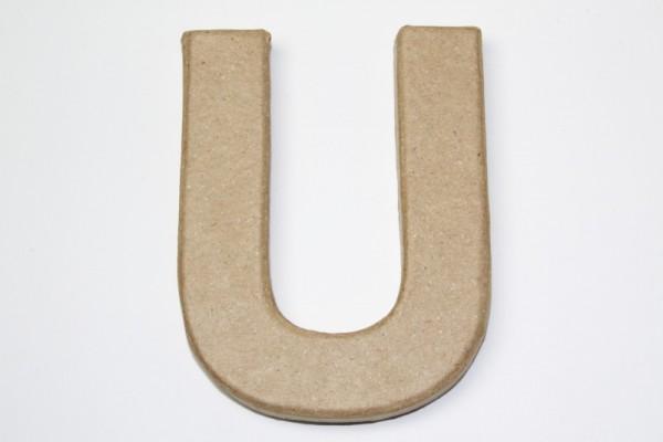 Buchstabe U, 10 x 1 cm, aus Pappmachè