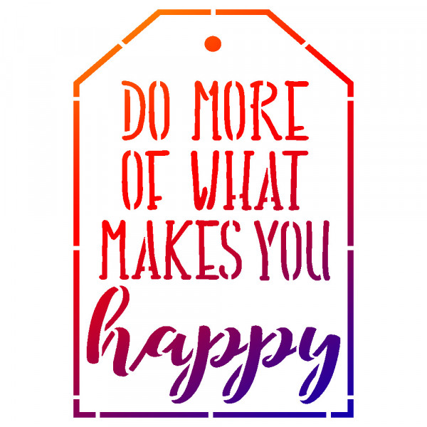 Viva Decor Universal-Schablone, DIN A5, Do more of what makes you happy