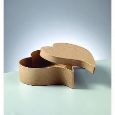 Box Herz, geschwungen, aus Pappmaché, 18 x 15 x 8 cm